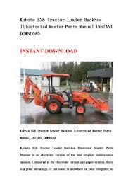 kubota b26 tractor loader backhoe illustrated master parts manual ins u2026