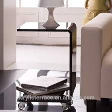 C Shaped End Table Black Acrylic C Shape Rolling Side Table Buy Clear Acrylic Side