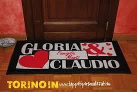 zerbini personalizzati on line prezzi foto tappeti personalizzati splendido regalo www