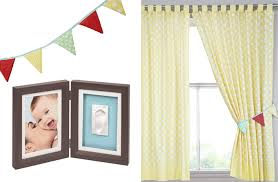 Yellow Nursery Curtains Bunting Frame And Curtains