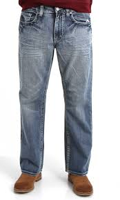 1897 men u0027s lowrise bootcut jeans with faux leather cutout pockets