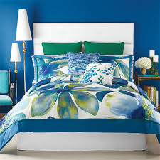 christian siriano watercolor bloom floral comforter and pillow