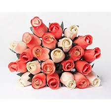 wooden roses orchid 24 beautiful realistic wooden roses
