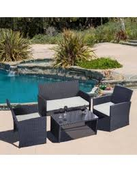 Rattan Patio Furniture Sale by Amazing Deal Costway 4 Pc Rattan Patio Furniture Set Garden Lawn