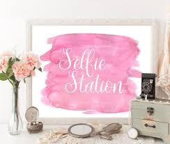 selfie station sign selfie station props selfie props
