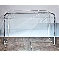 Clear Console Table Clear Table Waterfall Acrylic Console