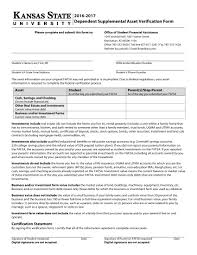 Dependent Student Verification Worksheet 9 Asset Verification Forms Free Pdf Doc Format Download