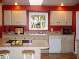 Red Kitchen Cabinets Inspirational White Kitchen Cabinets With Red Walls Taste
