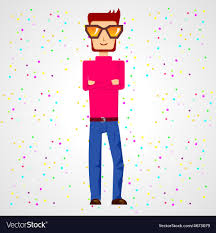 with folded across his chest royalty free vector