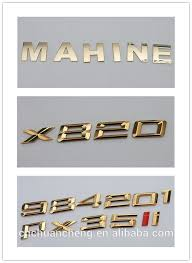 best selling 3d abs custom made adhesive plastic chrome letters