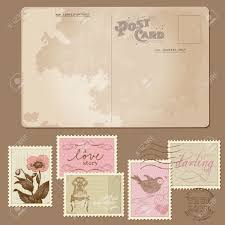 Stamps For Wedding Invitations Vintage Postcard And Postage Stamps For Wedding Design