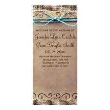 Country Wedding Programs 6 Best Images Of Rustic Wedding Program Wording Rustic Country