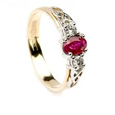 ruby engagement rings knot ruby engagement ring 14k yellow white gold