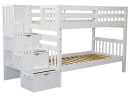 Bunk Bed King Bunk Beds Stairway White 689 Bunk Bed King