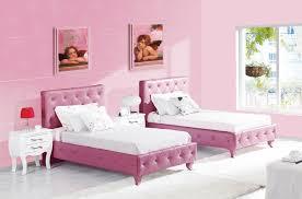 Twin Bedroom Ideas Feminine Adorable Pinky Bedroom Idea For Twin Girls Cute Ideas