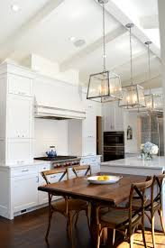 Kitchen Island And Dining Table by Cabinetry Integrated Hood Dining Table Off Island High Ceilings
