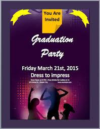 graduation invitation flyer template microsoft word templates