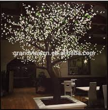 white artificial nature led cherry blossom tree light for shops