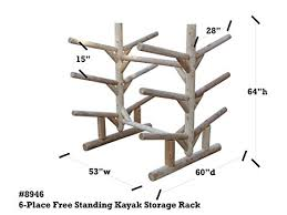 Free Standing Kayak Storage Rack Plans by Amazon Com Log Kayak Rack 6 Place Freestanding Kayak And Sup