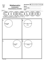 year 6 u2013 circumference of circles worksheet