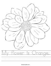 my flower is orange worksheet twisty noodle