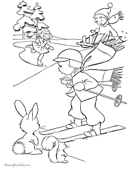 free kids printable christmas coloring pages winter fun