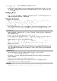 Project Resume Resume