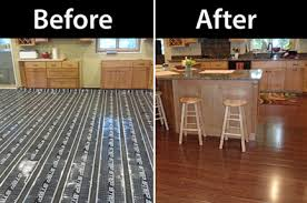 featured heated wood kitchen floor heatmyfloors com