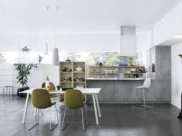 cuisine sol gris cuisine blanche et grise 30 designs modernes et élégants