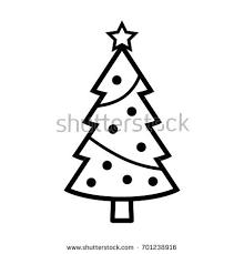 tree decorations flat icon stock vector 304601105