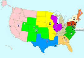 map of us federal states federal court concepts federal courts of appeal
