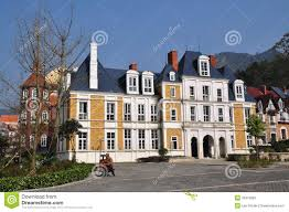 french chateau style bai lu china grand manor house in sino french village editorial