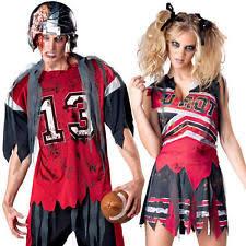Halloween Costumes Dead Cheerleader Mens American Fancy Dress Ebay