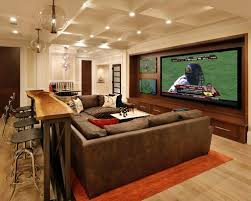 table that goes behind couch furniture bar behind sofa traditional home theater also basement
