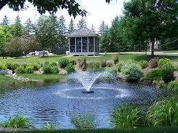 backyard drainage pond home outdoor decoration