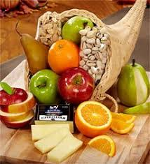 basket of fruit cornucopia of fruit gift basket home kitchen