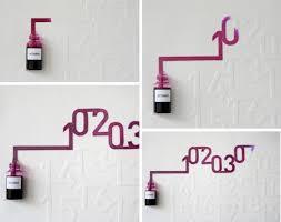 design idea ink capillary action dynamic wall calendar design