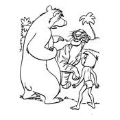 coloring pages jungle book disney
