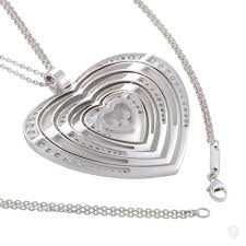 floating heart pendant necklace images Jewelry chopard happy diamonds 18k white gold floating diamonds