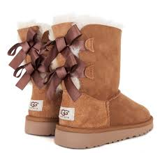 womens ugg bailey boots chestnut ugg bailey bow boot preschool dtlr com
