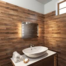 bathrooms design vanity table with lighted mirror lights framed
