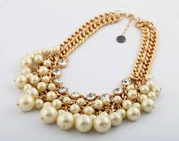 fashion jewelry pearls necklace images Anthology of gold pearl formal wear necklaces for ladies trendy jpeg