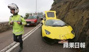 lamborghini aventador lp720 4 lamborghini aventador lp720 4 crashed into cliff in hong kong