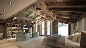 chambre chalet luxe création 3d d une terrasse d un chalet de luxe à la montagne