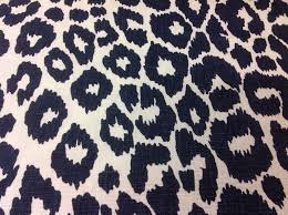 schumacher animal print upholstery fabric iconic leopard ink 38 x