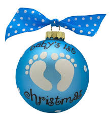 baby boy vintage handpainted glass personalized ornaments