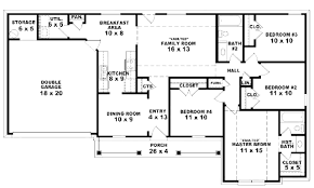 4 bedroom 3 bath house plans 28 four bedroom house plans one single 4 and 3 corglife