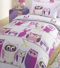 Toy Story Single Duvet Set Owl Patterned Single Bedding Set In Shades Of Pink Purple And White