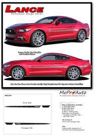 Black Mustang Stripes Lance 2015 2016 2017 Ford Mustang Mid Door Stripes Vinyl Graphic