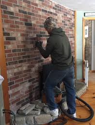 ideas trendy brick effect cladding for fireplaces step brick